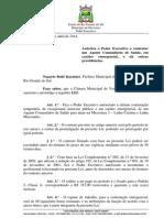 Projeto de Lei 030 - Lei 998