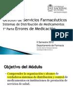 Sistemas de Distrubición de Medicamentos I