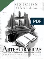 Exposicion Nacional Artes Graficas 1945