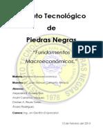 Fundamentos Macroeconomicos; Investigacion de La Unidad #1