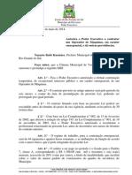 Projeto de Lei 034 - Lei 1002