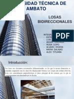 EXPOSICION LOSAS BIDIRECCIONALES