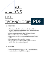 Swot Analysis of HCL Technologies