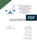 Trabajo Escrito Tema Libre - Reflexión Sobre La Integridad Nacional y La Globalización ...