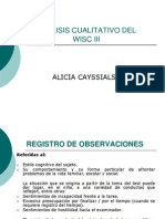 Analisis Cualitativo Wisc III a. Cayssials