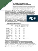 América Latina Sufre de Una Aguda Desigualdad en Varias Dimensiones