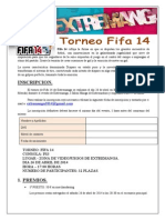 Bases Torneo Fifa 14 Ps3