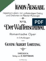 Lortzing-Waffenschmied-Klavierauszug