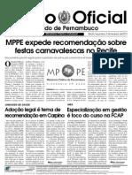 Diário Recomenddações Sobre Festas Em Recife