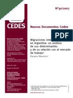 CEDES-Migraciones Internacionales en Argentina
