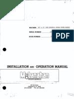 Mc Lanahan - Installation and Operation Manual-book Ner.780-Sss