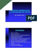 Conceptos Generales de La Contabilidad de Costos