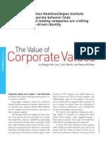 El Valor de Los Valores Corporativos