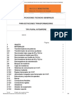 Especificaciones Tecnicas Generales Para Estaciones Transformadoras Rurales Intemperie