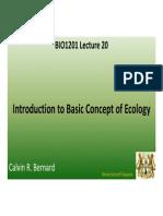BIO1201 Lecture 20
