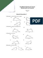 Cálculo 1 - Lista de Exercícios 1