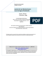 PROPUESTA DE LEY NACIONAL PARA REUSO DE AGUAS RESIDUALES