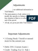 Adjustments & Final Accounts - Session 10