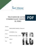 Tratados de Acuerdo Comerciales Vigentes en El Peru