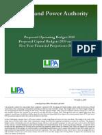 LIPA Proposed Budget 2010