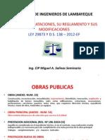 Curso Nueva Ley de Contrataciones Cip Cajamarca Marzo 2013