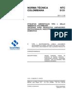 NTC5131 Criterios Para Productos Detergentes
