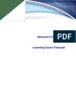 Advanced UI Techniques E-Learning Course Transcript(1)