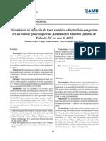 2008 - Prevalência de Infecção Do Trato Urinário e Bacteriúria Em Gestantes Da Clínica Ginecológica Do Ambulatório Materno Infantil de Tubarão