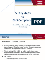 Transitioning to GHS - 5 Easy Steps