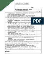 Checklist for Tourist Transit 031013
