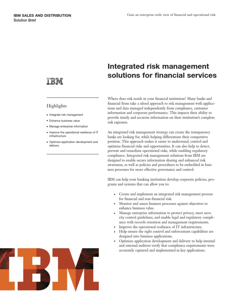 IBM Banking: Evolve Your Risk Practices with Integrated Risk
