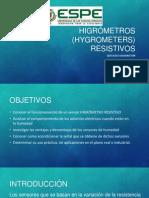 Higrómetros (Hygrometers) Resistivos