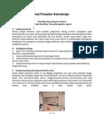 Standar Operasional Prosedur Kemoterapi