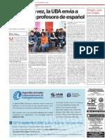Las UBA envía a China a una profe de español