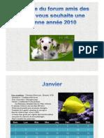 Calendrier aquariophile 2010
