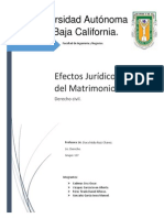 Efectos Juridicos Del Matrimonio Terminado