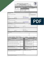 Formulario de Licencia Sanitaria Ministerio de Salud DRCA-004