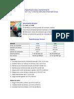 Especificaciones y Mantenimiento 1.3 1.6 Chevrolet Corsa