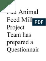 Pak Animal Feed Mill