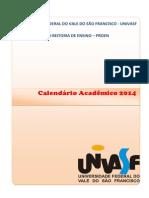 Calendário Acadêmico 2014 Univasf