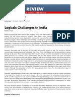 Umesh Shetty - Logistics in India