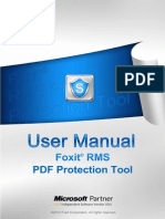FoxitRMSPDFProtectionTool 110 CLI Manual