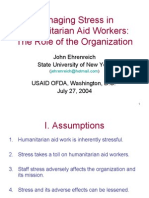 4343 Managing Stress in Humanitarian Aid Workers
