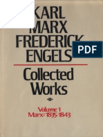 Marx Engels Collected Works Volume 1