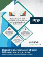 Focus Towards B2B Customer Experience for Increasing Topline and Bottomline
