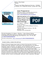 Optimization of a Laboratory-Scale Froth Flotation Process Using Response Surface Methodology