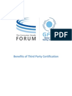 Benefits of Third Party Certification