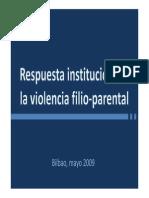 Respuesta Institucional a La Violencia Filioparental