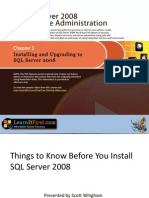 Installing and Upgrading to SQL Server 2008