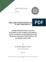 behavior of concrete slabs under impact